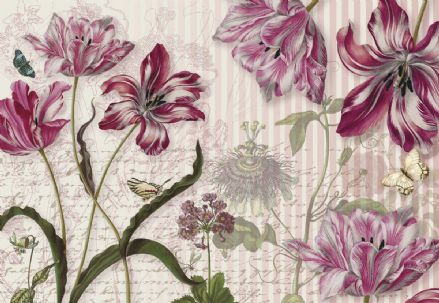 Wall mural wallpaper Merian flower design